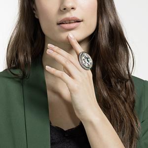 Коктейльное кольцо  Swarovski BLACK BAROQUE 5490984 50-55