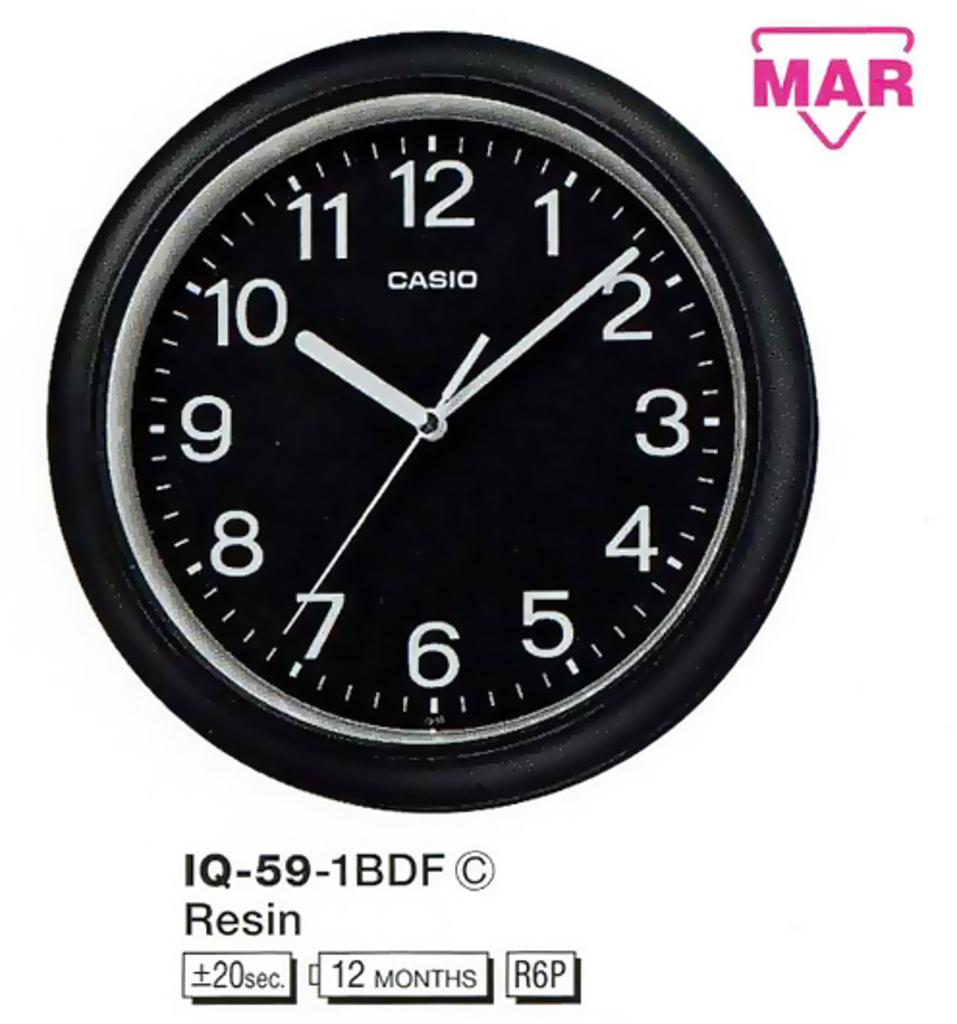 Настенные часы Casio IQ-59-1BDF