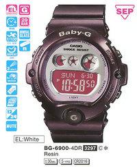 Часы CASIO BG-6900-4ER - Дека