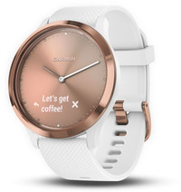 Смарт-часы Garmin Vivomove HR, E EU, Sport, Rose Gold-White , S/M - Дека