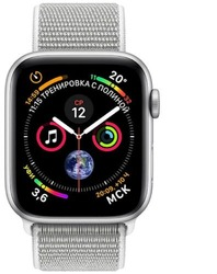 Смарт-часы Apple Watch Series 4 40mm Silver Aluminium Case with Seashell Sport Loop - ДЕКА