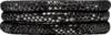 Christina Charms Cord, 70 cm, SILVER BLACK, Leather